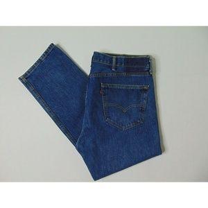 Levi's 40 X 30 Blue Jeans Denim Cotton Straight
